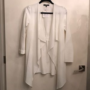 Misguided ivory waterfall jacket